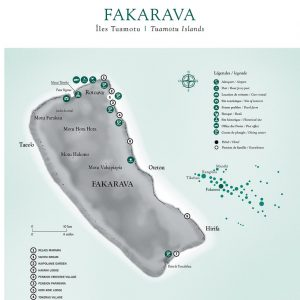Fakarava Map © Tahiti Tourism