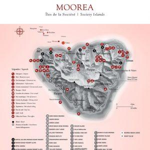 Moorea Map © Tahiti Tourism