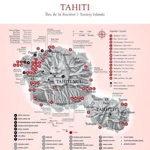 Tahiti Map © Tahiti Tourism