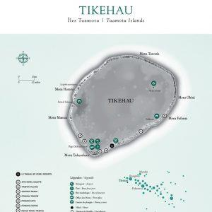 Tikehau Map © Tahiti Tourism