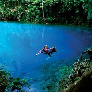 Vanuatu - Tourism - Diving - Blue Hole Dive-VAN358