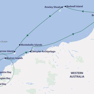 Western Australia - Aurora Expeditions - Ningaloo Reef Adventure Map